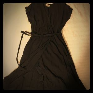 Cute black wrap dress